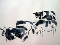 Malerei, Skizze, Zeichnung, Aquarell