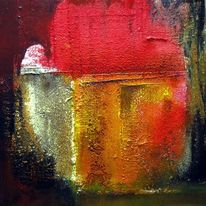 Malerei, Haus, See
