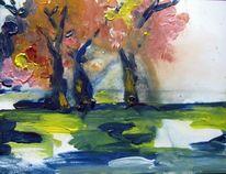 Malerei, Moor, Herbst