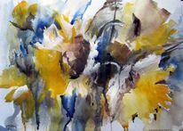 Malerei, Pflanzen, Sonnenblumen