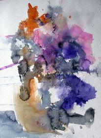 Aquarellmalerei, Blumen, Nass, Aquarell