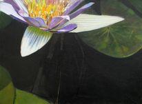 Acrylmalerei, Seerosen, 2011, Henshouse