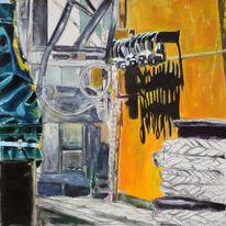 Festmachen, 2011, Henshouse, Malerei