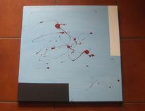 Blau, Abstrakt, Hellblau, Malerei