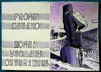 Osterinsel, Rongo rongo, Zeichnungen