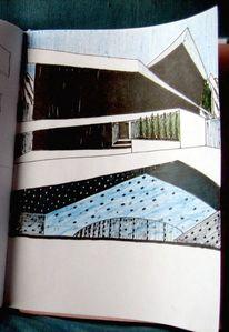 Villa, Becken, Zeichnungen
