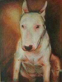Lasurtechnik, Hund, Portrait, Malerei