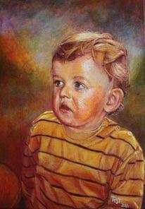 Acrylmalerei, Portrait, Kind, Malerei