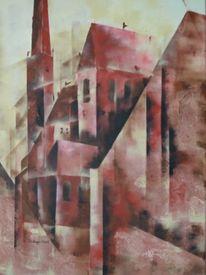 Acrylmalerei, Gemäuer, Alt, Geschichte