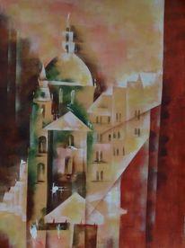 Gebäude, Acrylmalerei, Historie, Häuser