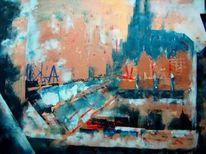 Acrylmalerei, Abstrakt, Köln, Expressionismus