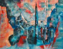 Italien, Kirche, Blau, Trajan forum