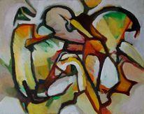 Abstrakter expressionismus, Glaube, Ölmalerei, Wahnsinn
