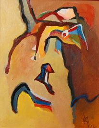 Ölmalerei, Birotic art, Gras, Abstrakter expressionismus
