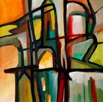 Birotic art, Ölmalerei, Abstrakt, Malerei