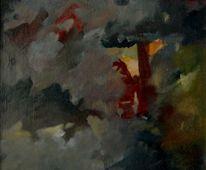 Abstrakter expressionismus, Ölmalerei, Birotic art, Malerei