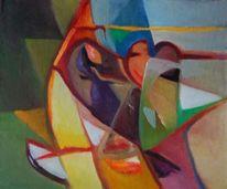 Ölmalerei, Abstrakter expressionismus, Farben, Schwach
