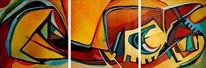 Ölmalerei, Malerei, Abstrakt, Hummer