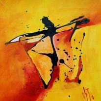 Abstrakter expressionismus, Ölmalerei, Romanze, Feucht