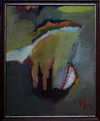 Herbst, Ölmalerei, Wolkig, Realismus
