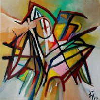 Birotic art, Ölmalerei, Malerei, Abstrakt