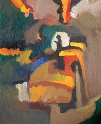 Impressionismus, Herbst, Ölmalerei, Feucht