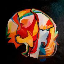 Ölmalerei, Malerei, Abstrakt, Qualle