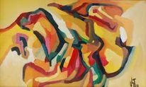 Farben, Abstrakter expressionismus, Licht, Ölmalerei