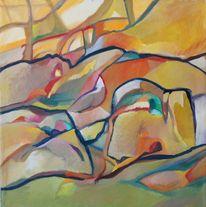 Abstrakter expressionismus, Realismus, Farben, Schwach