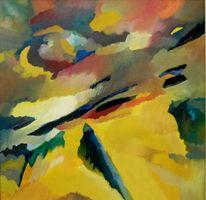 Sonne, Birotic, Abstrakter expressionismus, Ölmalerei