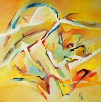 Ölmalerei, Birotic art, Sonne, Abstrakter expressionismus