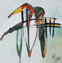 Ölmalerei, Birotic art, Malerei, Abstrakt