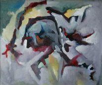 Herbst, Ölmalerei, Birotic art, Wolkig