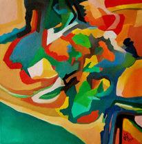 Ölmalerei, Malerei, Abstrakt, Wald