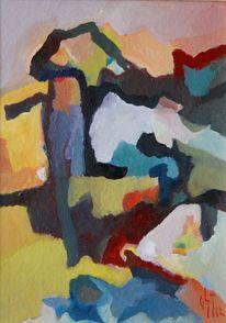 Abstrakter expressionismus, Wolkig, Brief, Ölmalerei