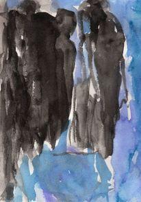 Figural, Blau, Kalt, Surreal