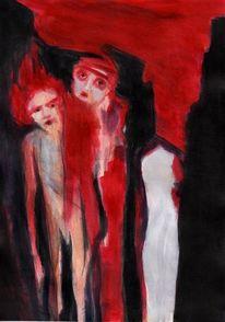 Rot, Traum, Surreal, Malerei