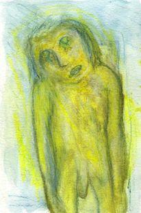 Gelb, Surreal, Abstrakt, Figural