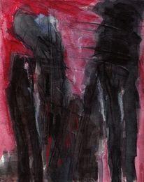 Malerei, Surreal, Rot