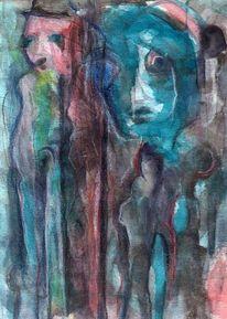 Surreal, Figural, Abstrakt, Malerei