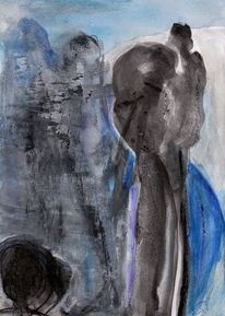 Blau, Nonsens, Abstrakt, Malerei