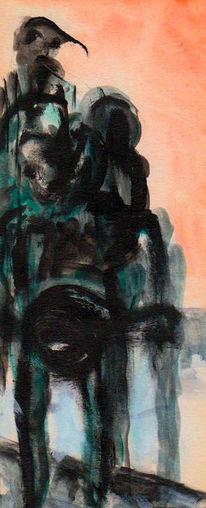 Nonsens, Surreal, Menschen, Malerei