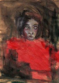 Malerei, Rot, Nacht