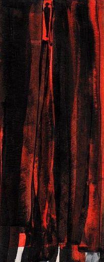 Traum, Nacht, Rot, Malerei