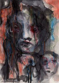 Figural, Rot, Surreal, Abstrakt