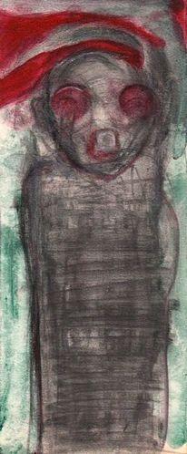 Figural, Rot, Menschen, Malerei