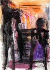 Surreal, Abstrakt, Figural, Malerei