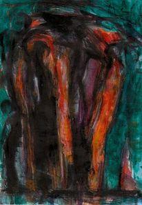 Surreal, Menschen, Abstrakt, Malerei