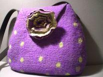 Mode, Filzen, Handtasche, Tasche