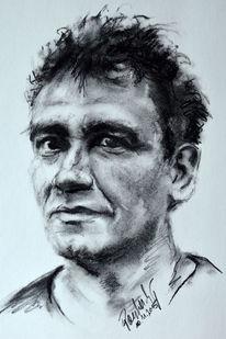 Portrait, Zeichenkohle, Rom, Geschenk